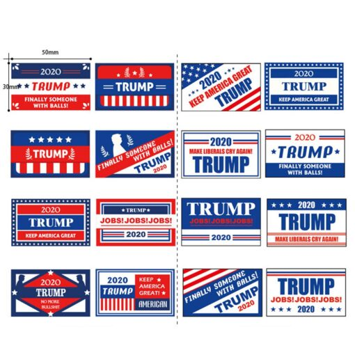 1 Roll 2020 US President Donald Trump Stickers Face Decals Keep America Great Keep America Great