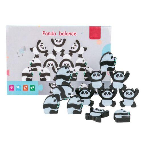 1 Set Wood Building Blocks Balancing Developmental Educational Game Toy Wooden Panda Monkey Balance Interactive Toys 1