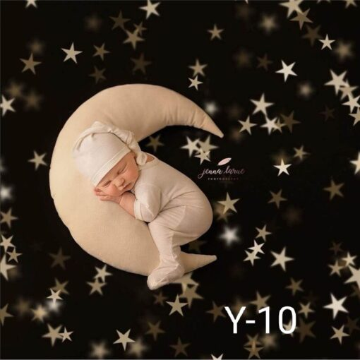 1 set newborn baby photography props moon shaped pillows with 4 stars and hats full moon 4