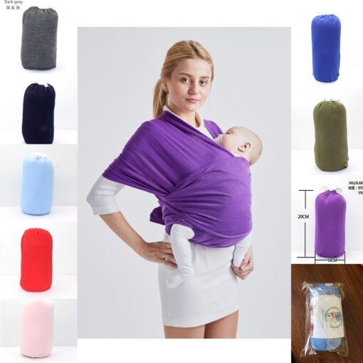10 Colors Ergonomic Baby Sling Wrap Carrier Ring Mesh Cross Holding Baby Sling Seat Newborn Infant