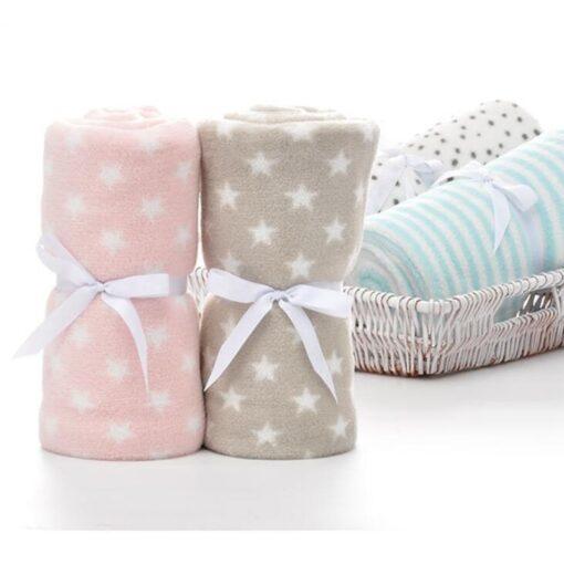 100 80cm Baby Blankets Newborn Cartoon Soft Comfortable Blanket Coral Fleece Manta Bebe Swaddle Wrap Bedding 2