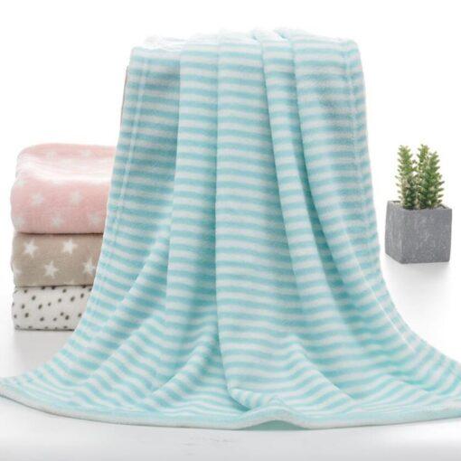 100 80cm Baby Blankets Newborn Cartoon Soft Comfortable Blanket Coral Fleece Manta Bebe Swaddle Wrap Bedding 3