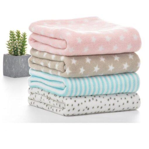 100 80cm Baby Blankets Newborn Cartoon Soft Comfortable Blanket Coral Fleece Manta Bebe Swaddle Wrap Bedding