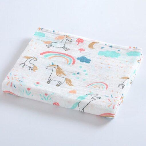 100 Cotton Baby Blanket Cute Cartoon Newborn Blankets Bath Gauze Infant Wrap Sleepsack Stroller Cover Play 5