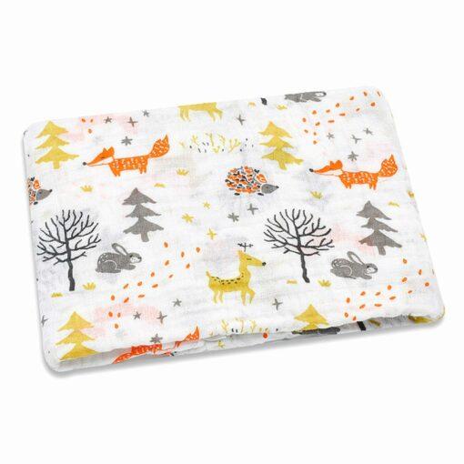 100 Cotton Baby Swaddles Soft Newborn Blankets Bath Gauze Infant Wrap Sleepsack Stroller Cover Play Mat 5