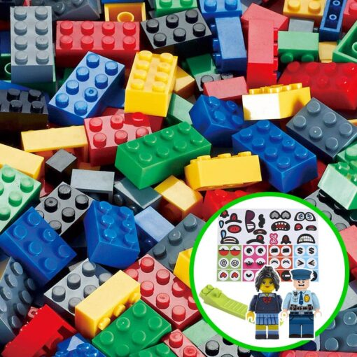 1000 Classic Building Block Set DIY Brick City Designer Part Bulk Pack Construction Model Educational Toy 2