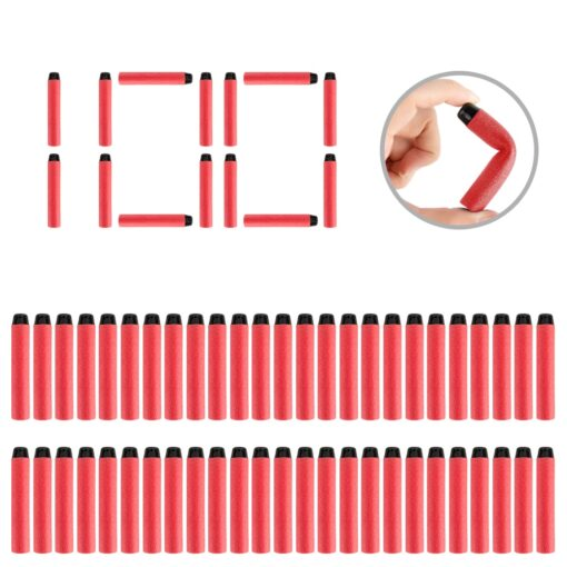 100PCS Darts For Nerf Soft Hollow Hole Head 7 2cm Refill Darts Toy Gun Bullets for