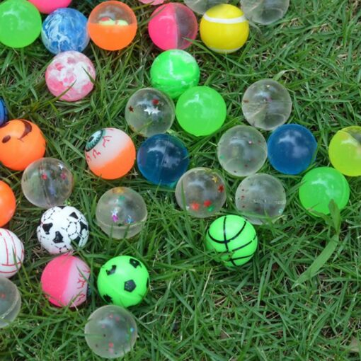 100pc Solid Bouncy Ball Toy Colorful Rubber Ball Funny Outdoors Mixed Jumping Elastic Floating Ball Children 2