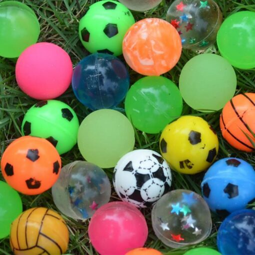 100pc Solid Bouncy Ball Toy Colorful Rubber Ball Funny Outdoors Mixed Jumping Elastic Floating Ball Children 5
