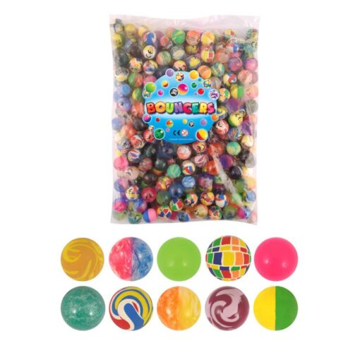 100pc Solid Bouncy Ball Toy Colorful Rubber Ball Funny Outdoors Mixed Jumping Elastic Floating Ball Children