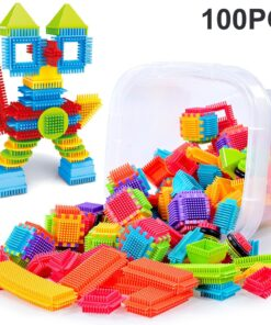100pcs 3D Building Blocks Toys Bristle Shape Tiles Construction Playboards Brain Game Toys For Children zabawki