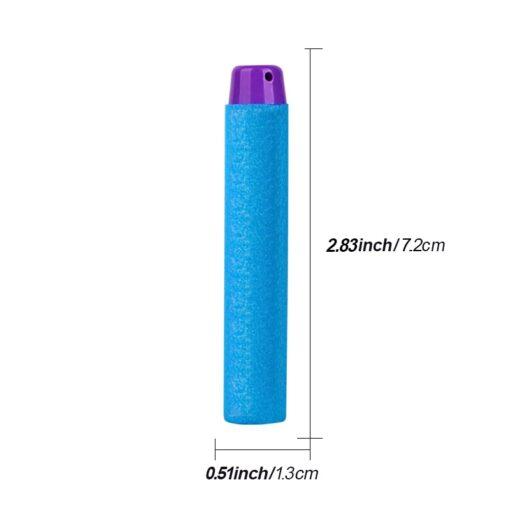 100pcs For Nerf Fortn Bullets EVA Soft Hollow Hole Head 7 2cm Refill Bullet Darts for 1