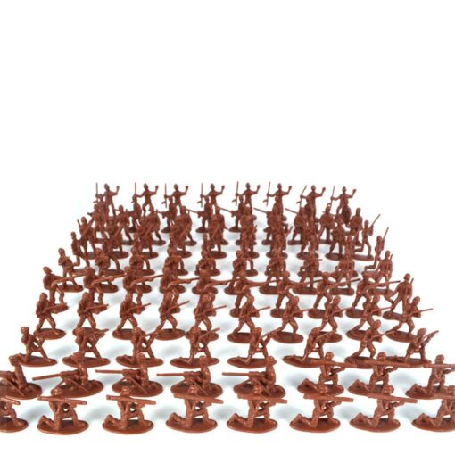 100pcs Pack Mini Soldier Model Military Plastic Toy Soldier Army Men Figures Playset Kit Gift Model 2