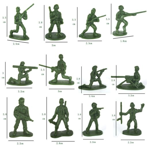 100pcs Pack Mini Soldier Model Military Plastic Toy Soldier Army Men Figures Playset Kit Gift Model 3