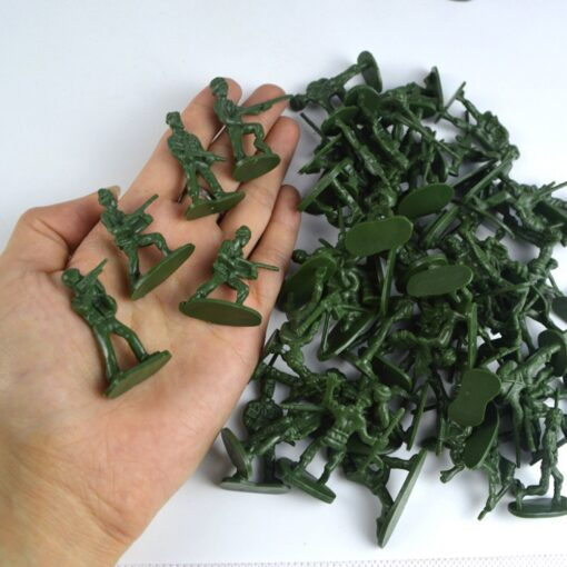100pcs Pack Mini Soldier Model Military Plastic Toy Soldier Army Men Figures Playset Kit Gift Model 4
