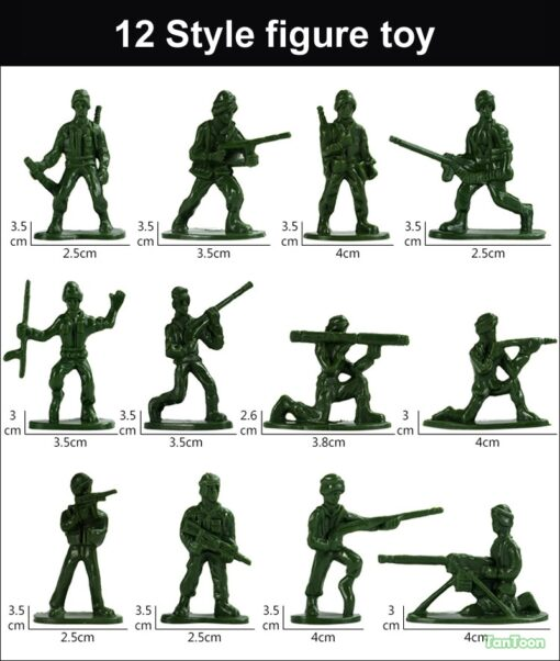 100pcs lot 3 5cm high Soldier Model Military sandbox game Plastic Toy Soldier Army Men Figures 1