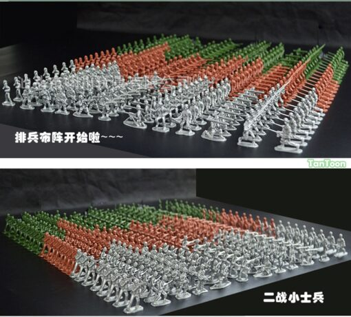 100pcs lot 3 5cm high Soldier Model Military sandbox game Plastic Toy Soldier Army Men Figures 2