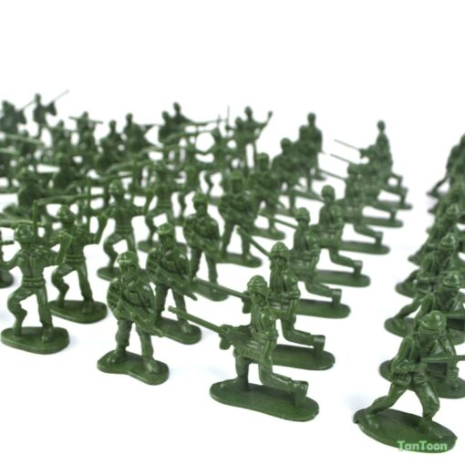 100pcs lot 3 5cm high Soldier Model Military sandbox game Plastic Toy Soldier Army Men Figures 3