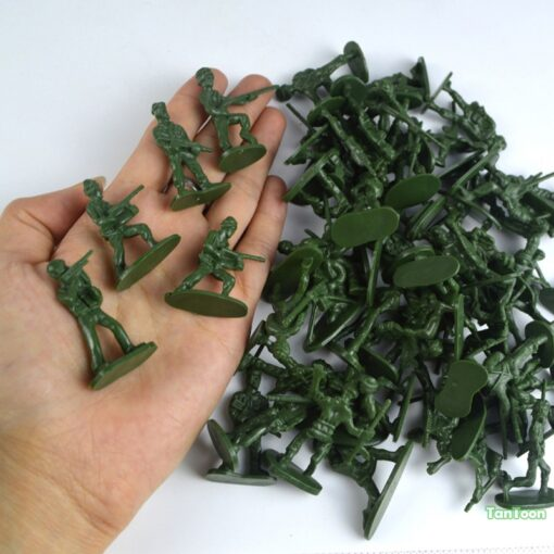 100pcs lot 3 5cm high Soldier Model Military sandbox game Plastic Toy Soldier Army Men Figures 4