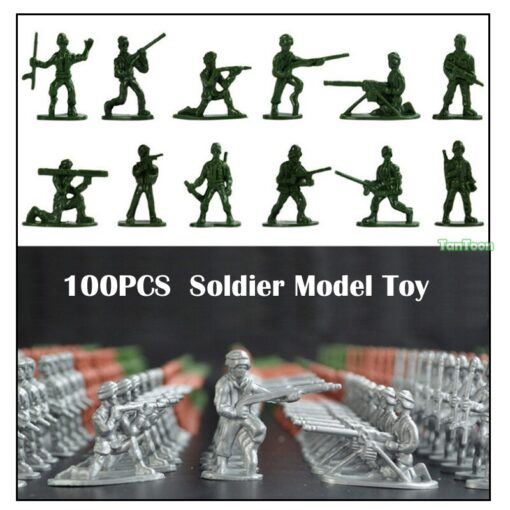 100pcs lot 3 5cm high Soldier Model Military sandbox game Plastic Toy Soldier Army Men Figures