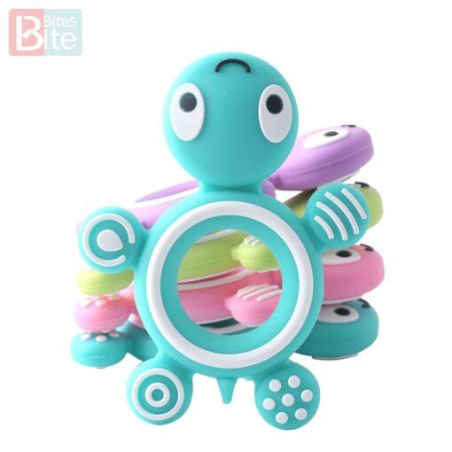 10PCS 5PCS Silicone Baby Teethers Turtle Food Grade Tortoise Silicone Tiny Rod Children s Goods Nurse