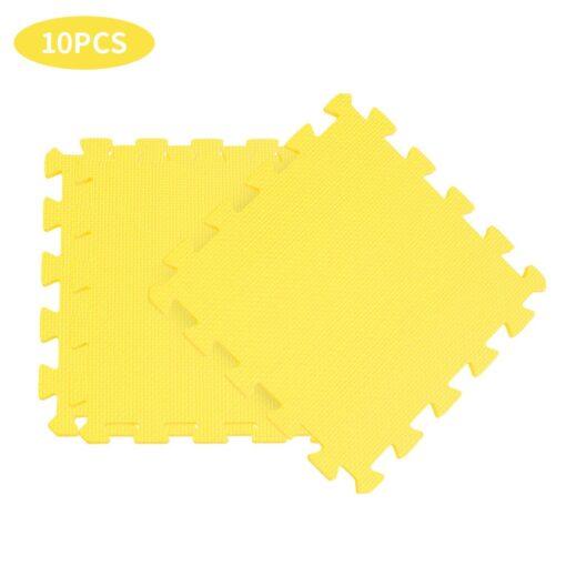 10PCS Baby Kids Play Mat Solid Colors Puzzle Excise Crawl Mat EVA Foam Floor Safe Play 2