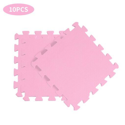 10PCS Baby Kids Play Mat Solid Colors Puzzle Excise Crawl Mat EVA Foam Floor Safe Play 3