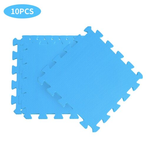 10PCS Baby Kids Play Mat Solid Colors Puzzle Excise Crawl Mat EVA Foam Floor Safe Play 4