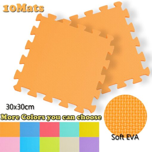 10PCS Baby Kids Play Mat Solid Colors Puzzle Excise Crawl Mat EVA Foam Floor Safe Play