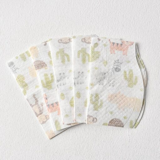 10PCS Lot Baby Waterproof Non Woven Fabric Disposable Bibs Portable Baby Toddler Bibs Feeding Saliva Apron 2