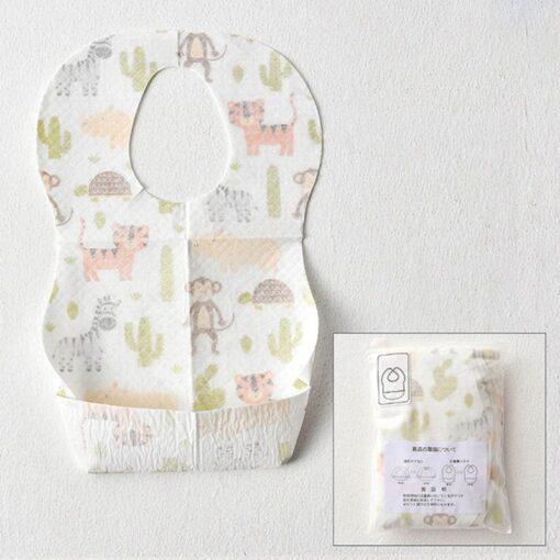 10PCS Lot Baby Waterproof Non Woven Fabric Disposable Bibs Portable Baby Toddler Bibs Feeding Saliva Apron