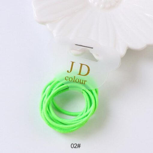 10PCS lot Girls Candy Colors Nylon Elastic Hair Bands Children Rubber Band Headband Disposable Rubber Band 4