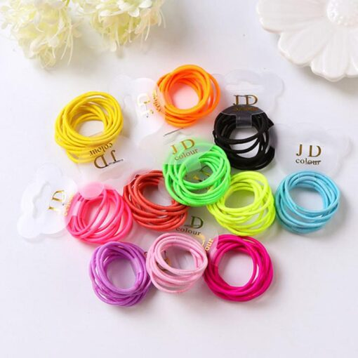 10PCS lot Rubber Band Children Scrunchy Girls Hair Bands Small Baby Headwear Multicolor Disposable Rubber Band