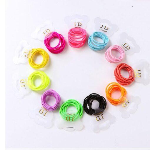 10PCS lot Solid Color Baby Girl Elastic Hair Bands Children Headwear Multicolor Girls Ponytail Holder Hair 4