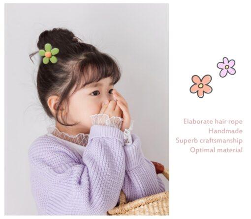 10Pcs Girls Hair Band Ties Rope Ring Elastic Hairband Ponytail Holder Korean Version Of The Head 1