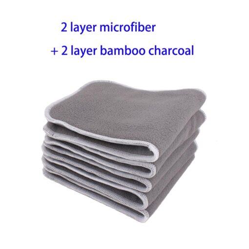 10Pcs Reusable Washable Inserts microfibre inserts bamboo charcoal inserts natural bamboo inserts 2