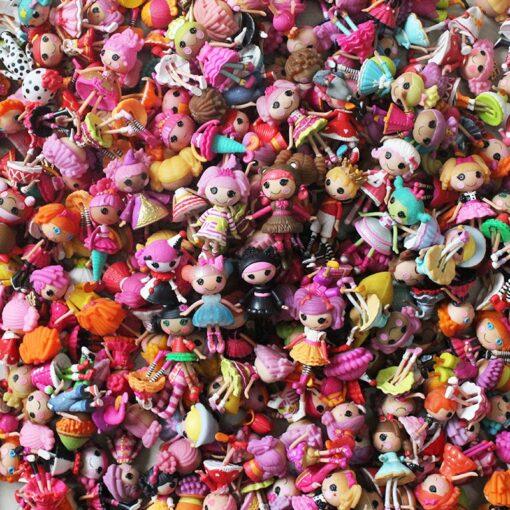 10Pcs set 3Inch Original MGA Lalaloopsy Dolls Mini Dolls For Girl s Toy Play Randomly send 1