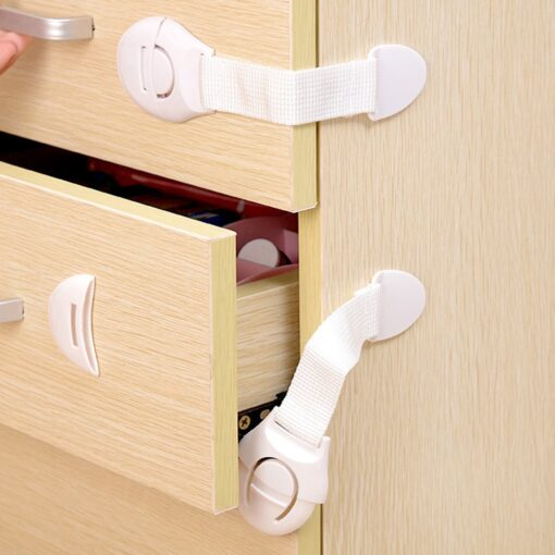 10pcs Child Safety Cabinet Lock Baby Proof Security Protector Drawer Door Cabinet Lock Plastic Protection Kids 3