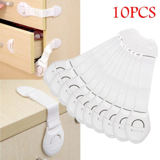 10pcs Child Safety Cabinet Lock Baby Proof Security Protector Drawer Door Cabinet Lock Plastic Protection Kids