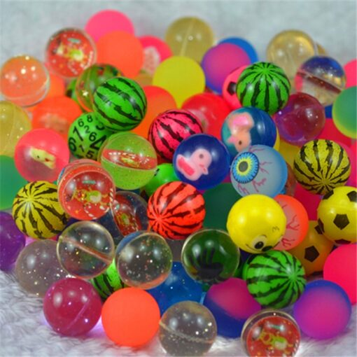 10pcs Funny toy balls mixed Bouncy Ball Solid floating bouncing child elastic rubber ball of pinball 1