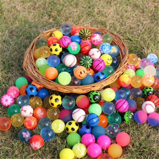 10pcs Funny toy balls mixed Bouncy Ball Solid floating bouncing child elastic rubber ball of pinball 2