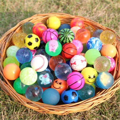 10pcs Funny toy balls mixed Bouncy Ball Solid floating bouncing child elastic rubber ball of pinball 3
