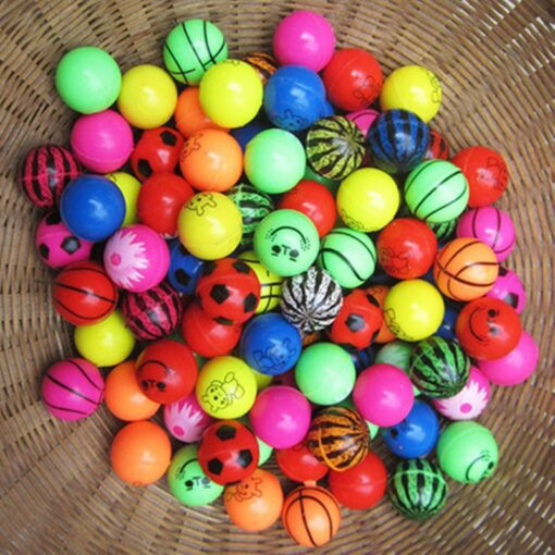 10pcs Funny toy balls mixed Bouncy Ball Solid floating bouncing child elastic rubber ball of pinball 4