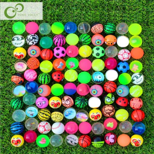 10pcs Funny toy balls mixed Bouncy Ball Solid floating bouncing child elastic rubber ball of pinball