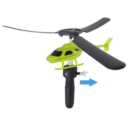 10pcs Kids Educational Toys Pull Wires RC Helicopters Fly Freedom Drawstring Mini Plane Children s Gifts 2