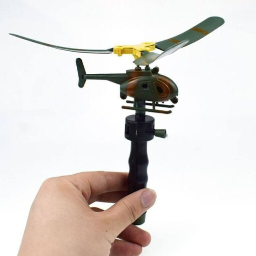 10pcs Kids Educational Toys Pull Wires RC Helicopters Fly Freedom Drawstring Mini Plane Children s Gifts 3