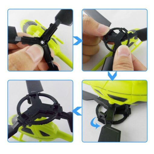 10pcs Kids Educational Toys Pull Wires RC Helicopters Fly Freedom Drawstring Mini Plane Children s Gifts 4