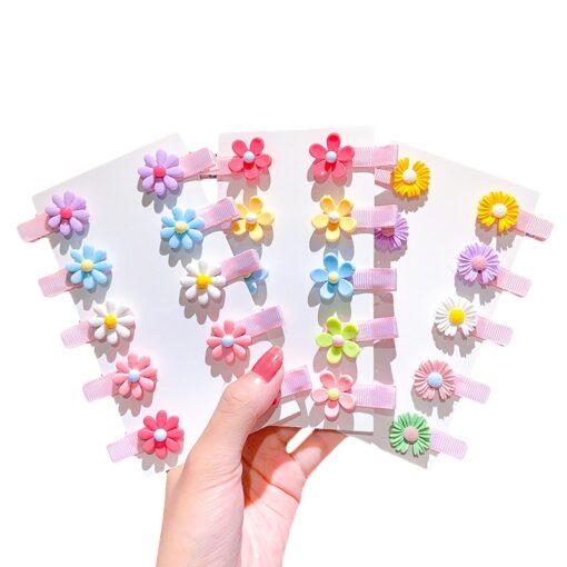 10pcs Kids Headwear Hairpins Children Color Hairclip Kids Hair Clips Pins Barrette Accessories Girl Hairgrip Headwear