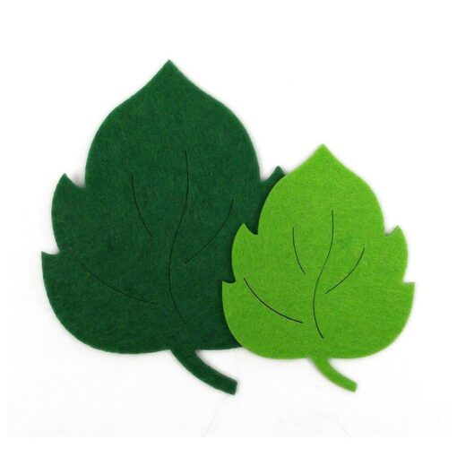 10pcs Leaves Non woven Fabric Kindergarten Decal Wall Sticker Educational Toy Durable Gift Kids toys Juguetes 2