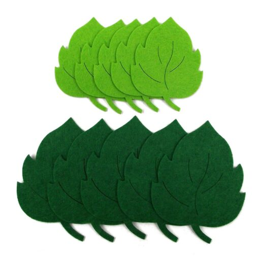 10pcs Leaves Non woven Fabric Kindergarten Decal Wall Sticker Educational Toy Durable Gift Kids toys Juguetes 3